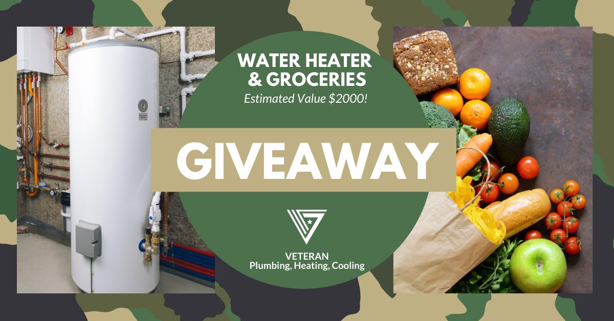 $2000 Water Heater & Groceries GIVEAWAY